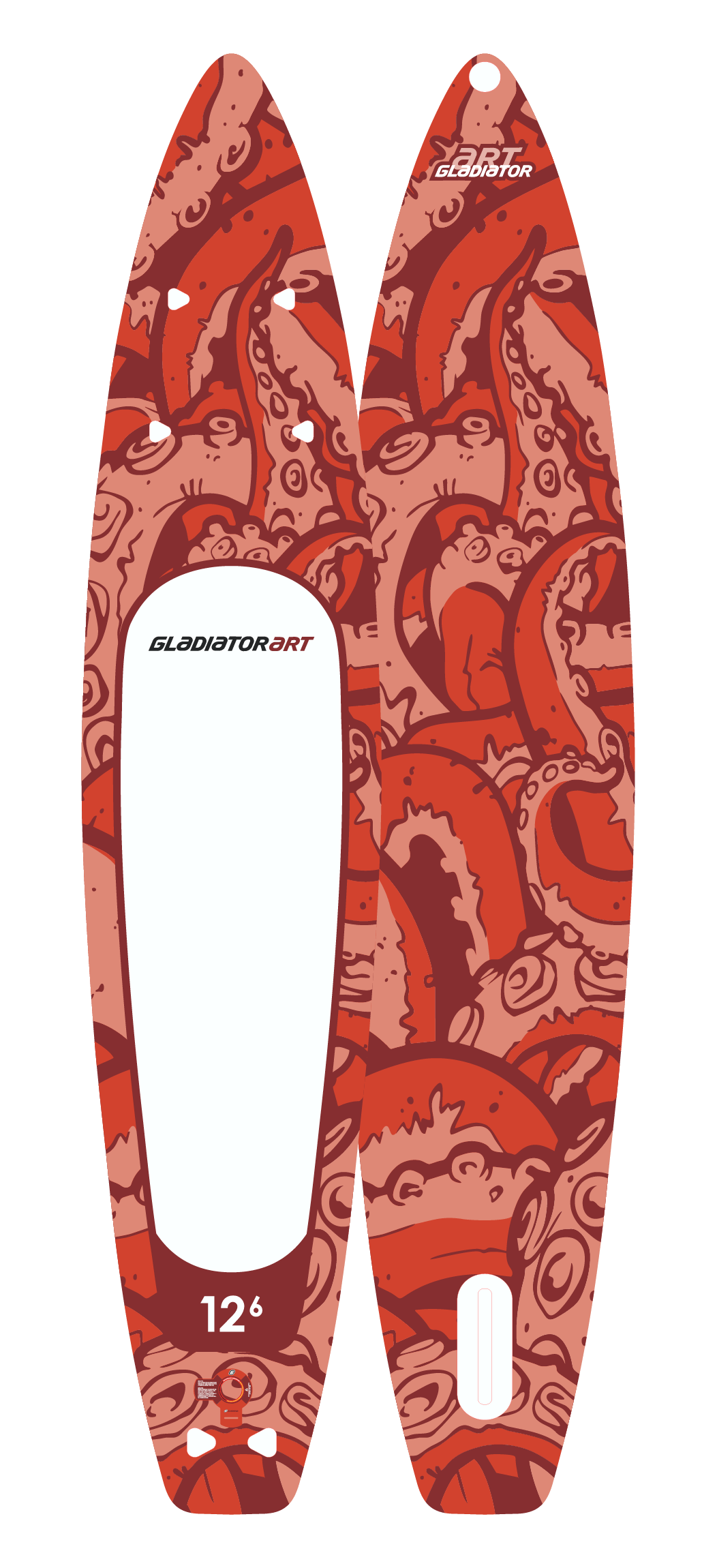 Надувной SUP борд GLADIATOR ART OCTOPUS 12.6