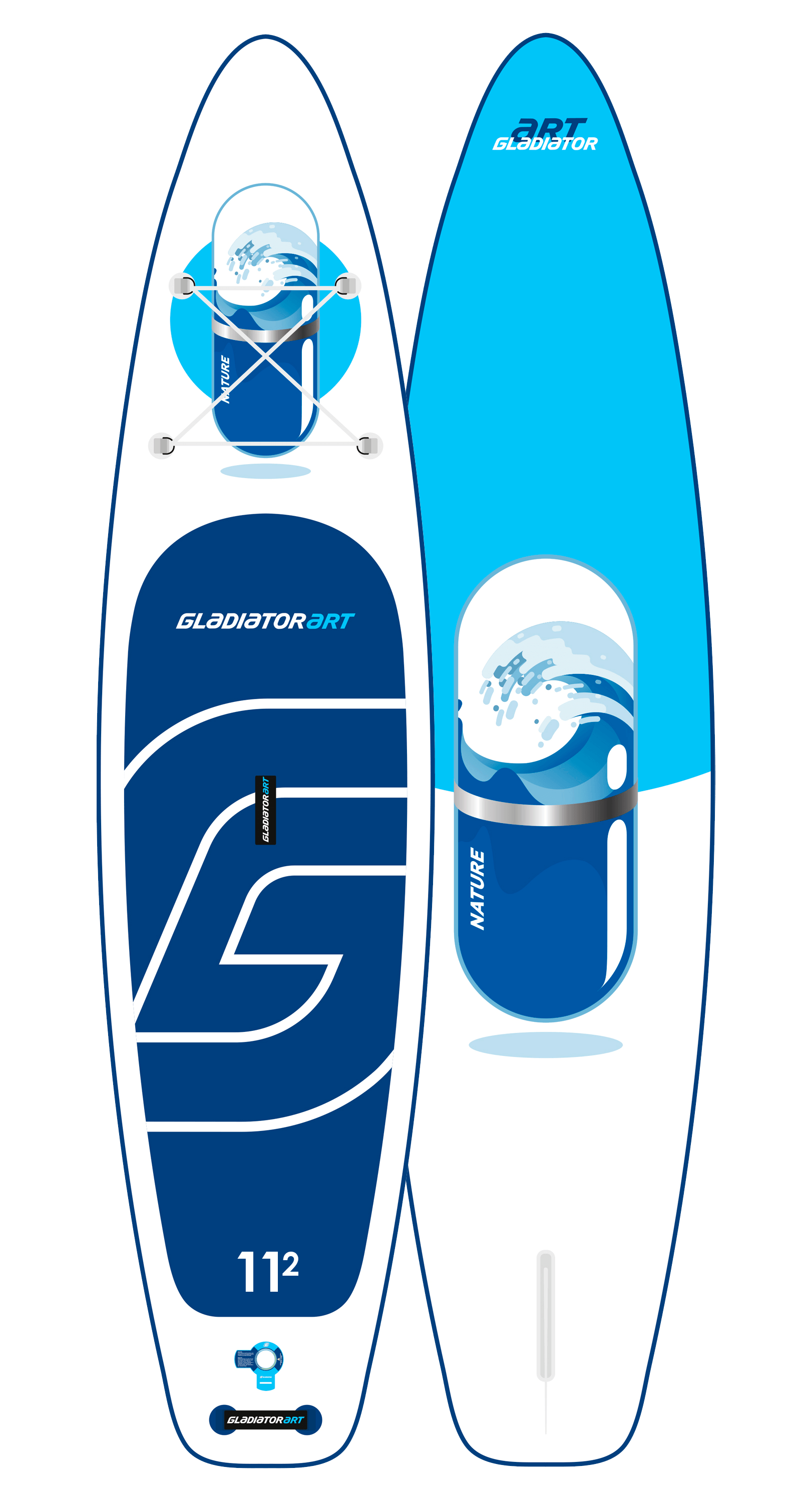 Надувной SUP борд GLADIATOR ART NATURE 11.2