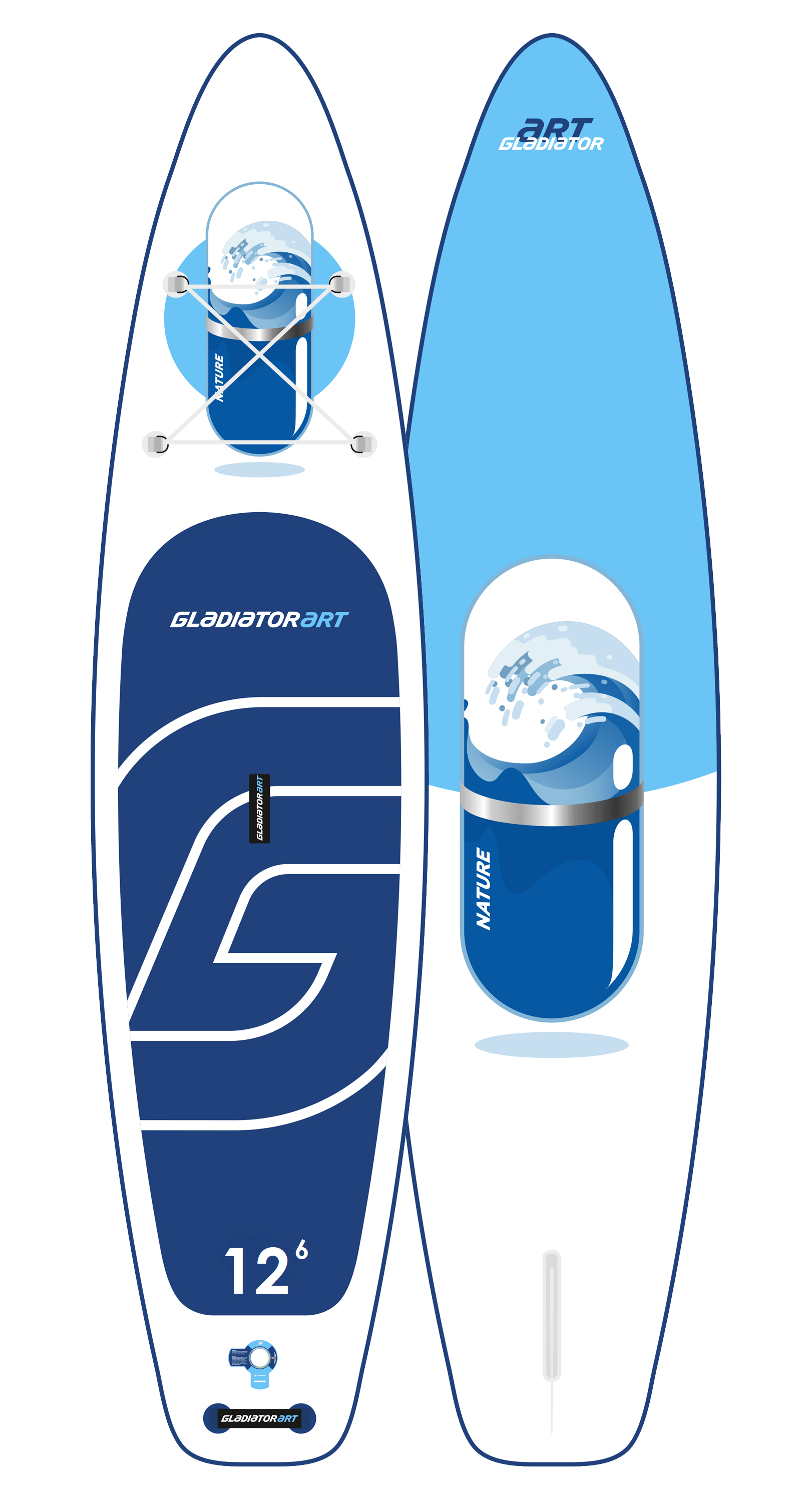 Надувной SUP борд GLADIATOR ART NATURE 12,6