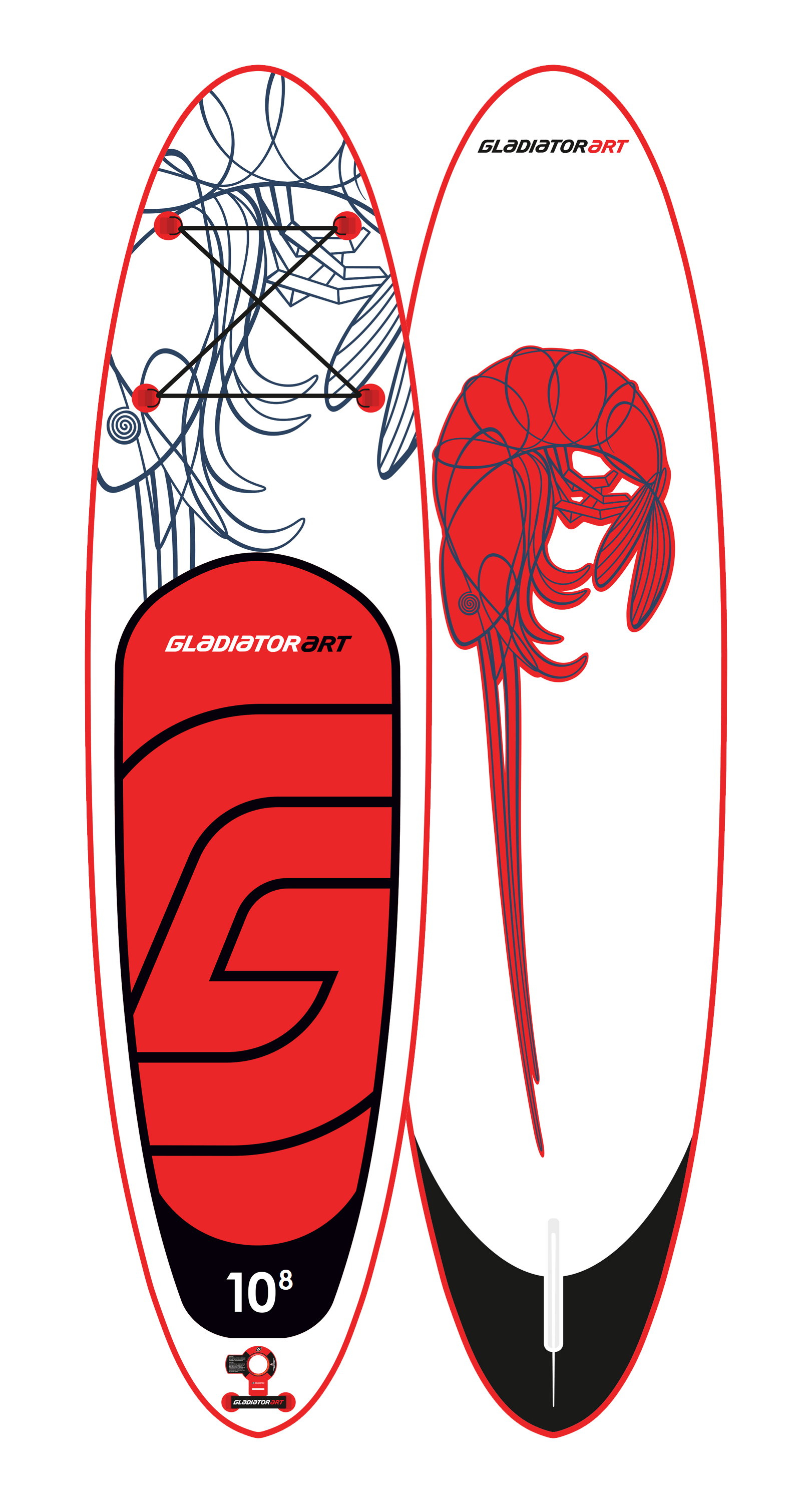 Надувной SUP борд GLADIATOR ART SHRIMP 10,8