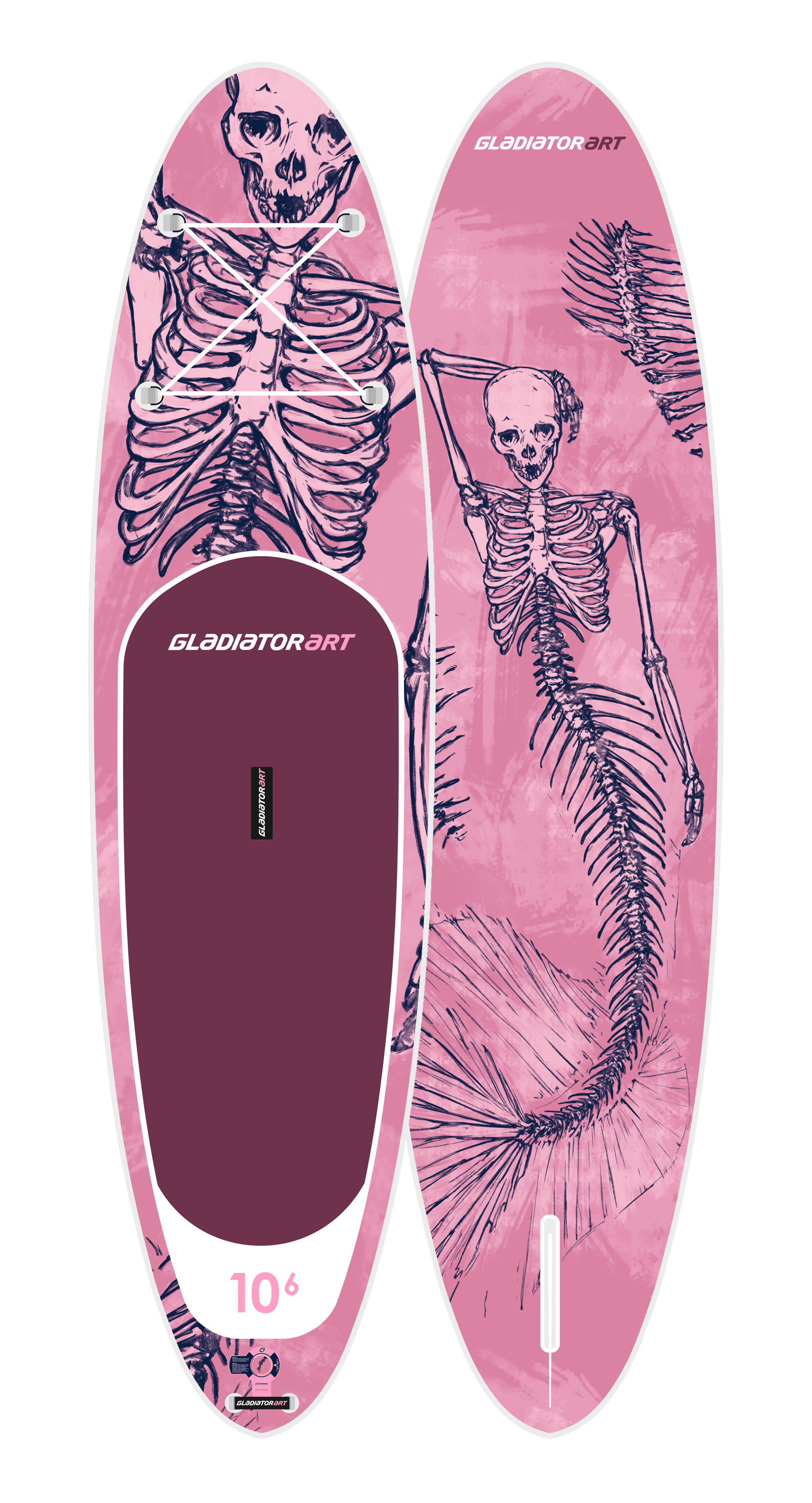 Надувной SUP борд GLADIATOR ART MERMAID 10.6