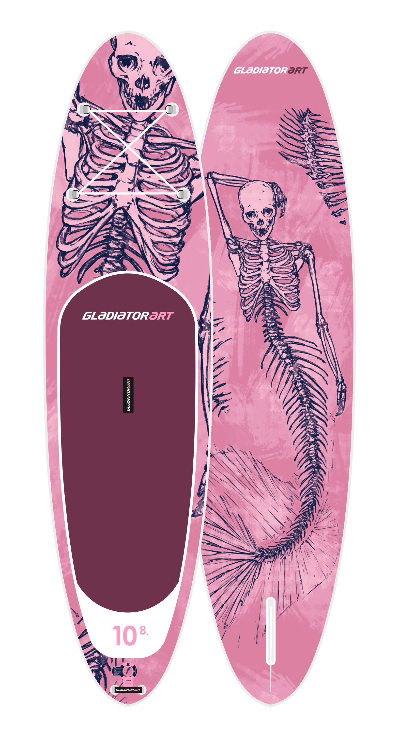 Надувной SUP борд GLADIATOR ART MERMAID 10.8