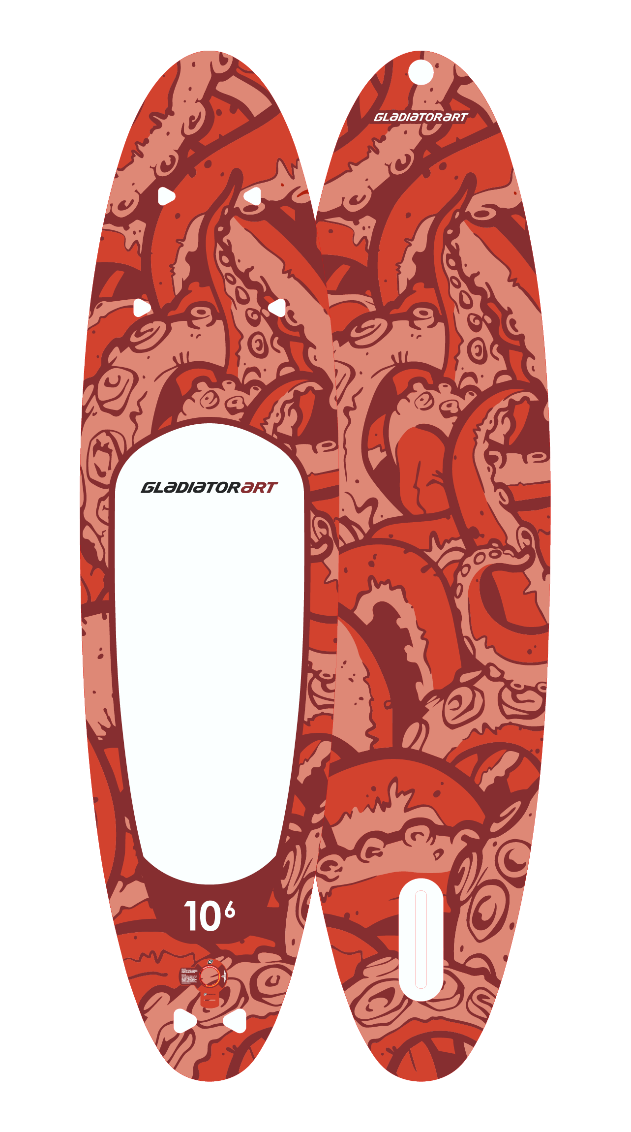 Надувной SUP борд GLADIATOR ART OCTOPUS 10,6