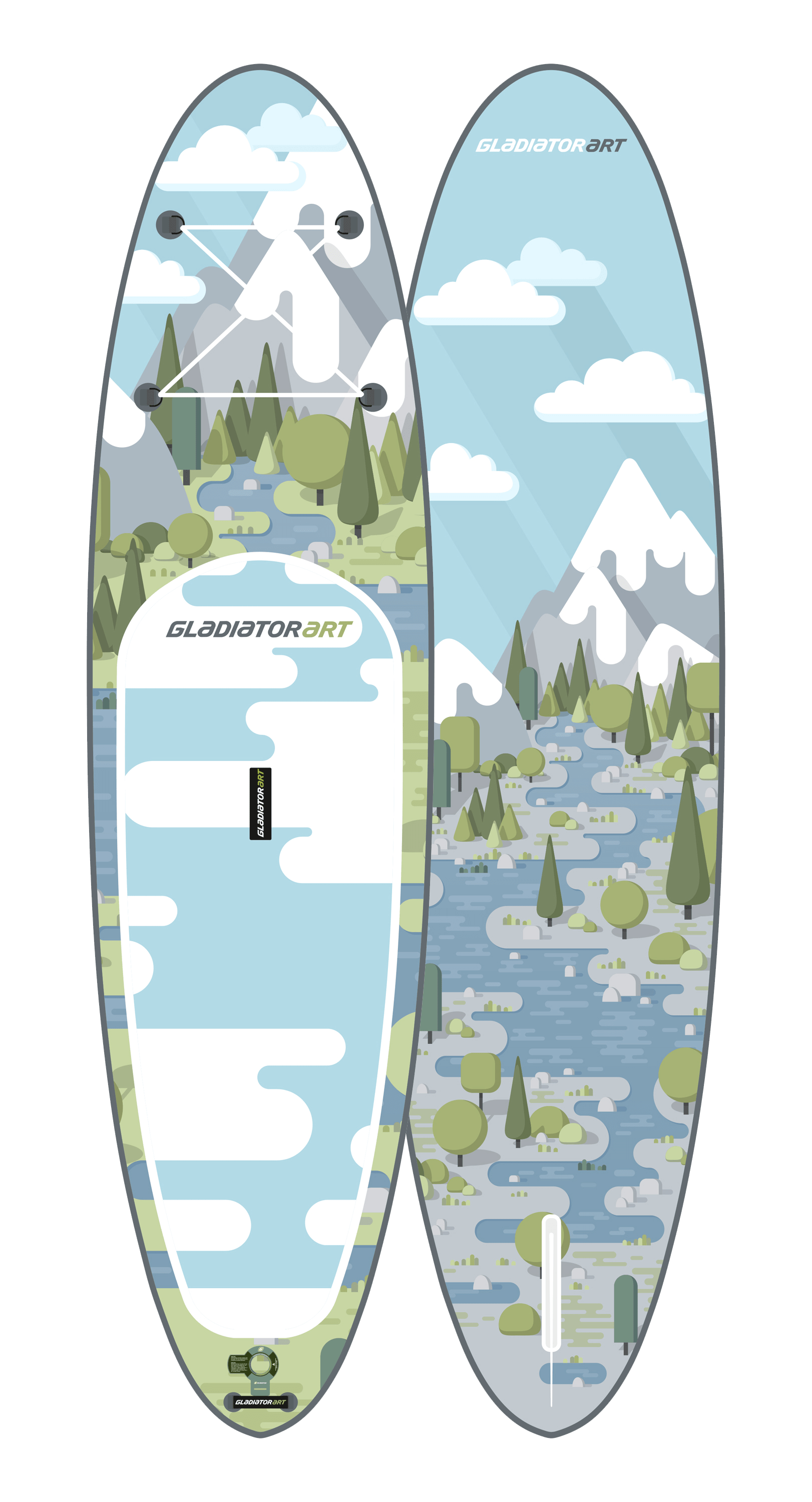 Надувной SUP борд GLADIATOR ART FOREST 10,6