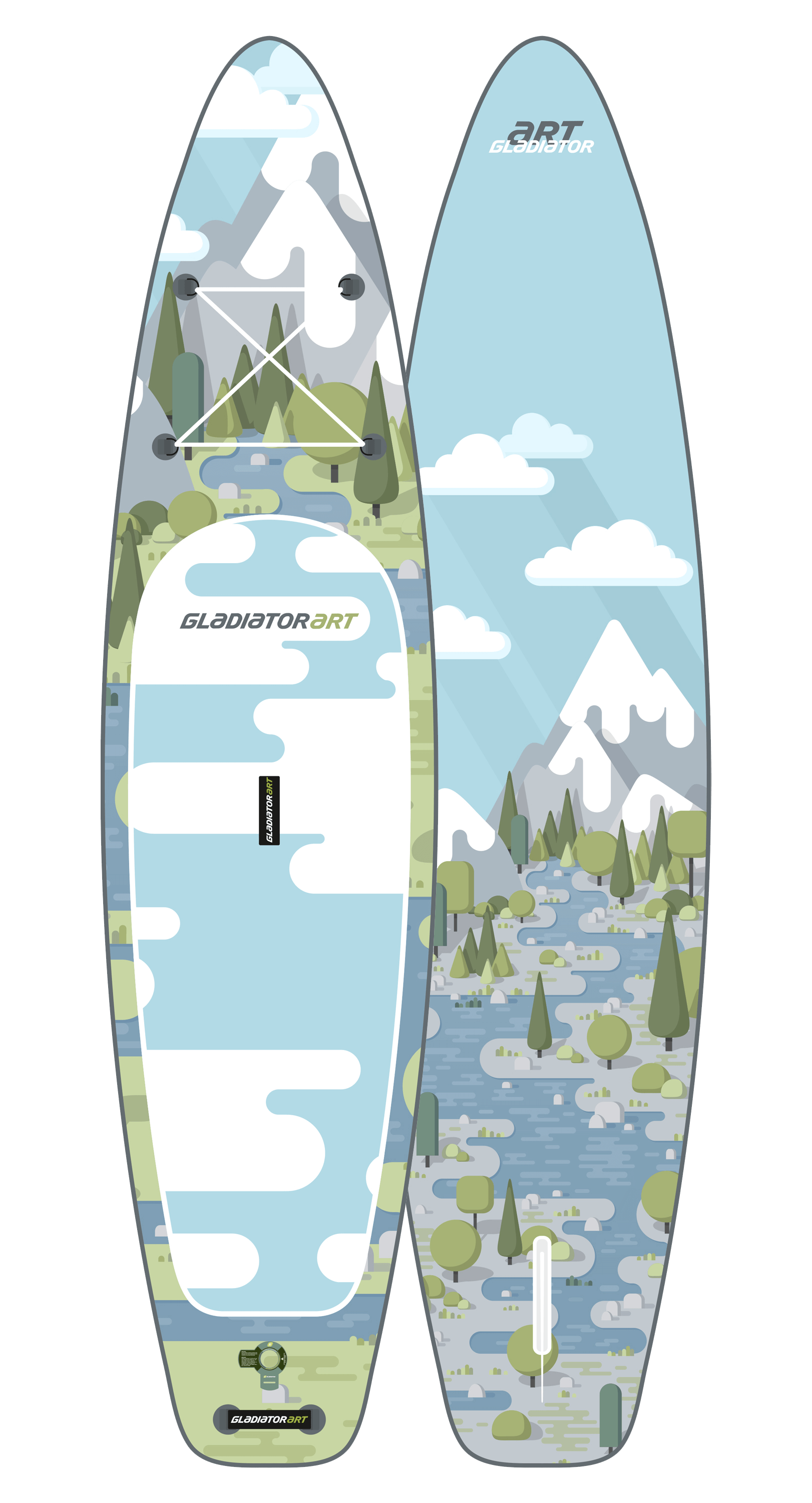 Надувной SUP борд GLADIATOR ART FOREST 11.2