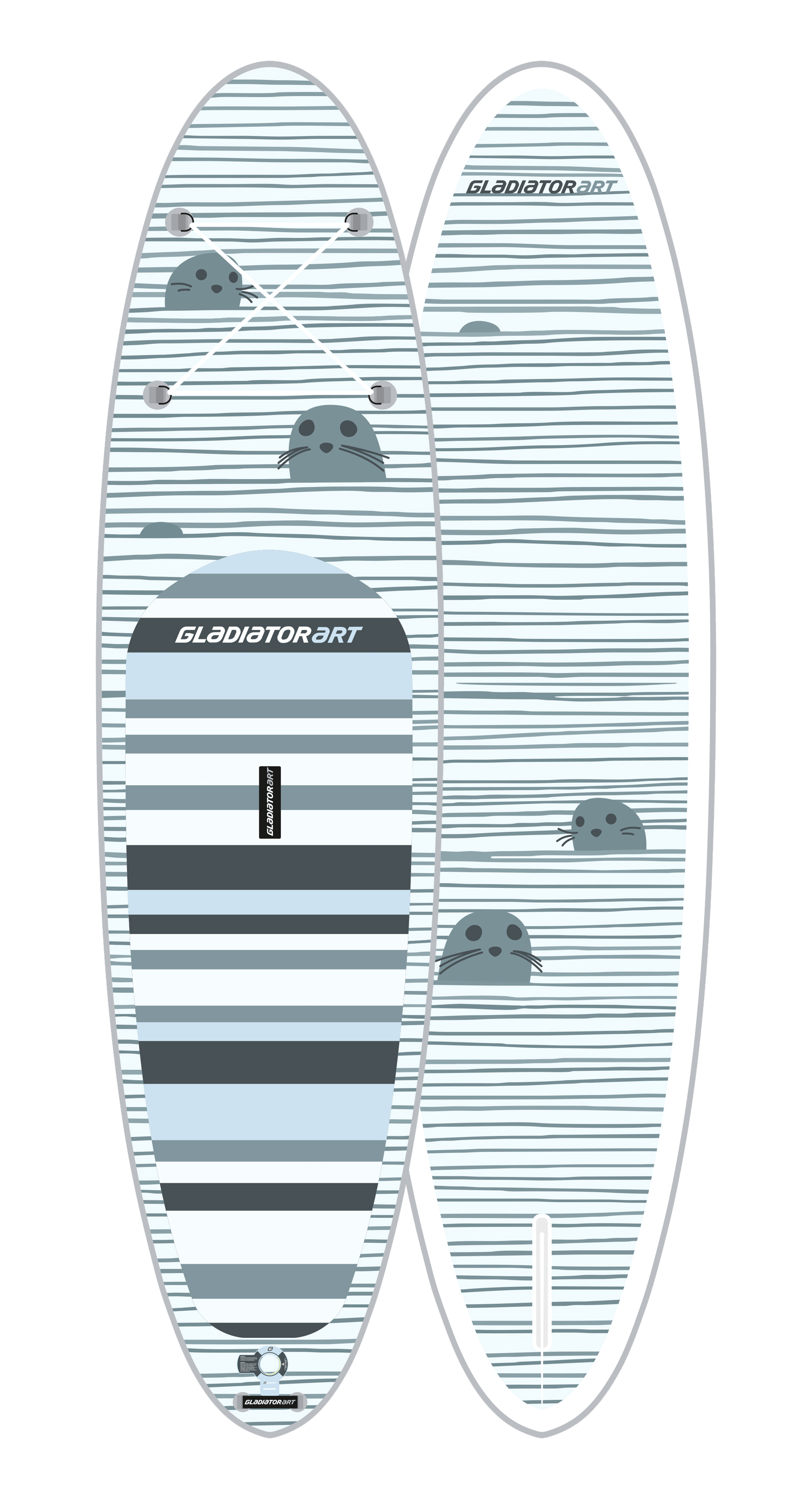 Надувной SUP борд GLADIATOR ART SEAL 10.6