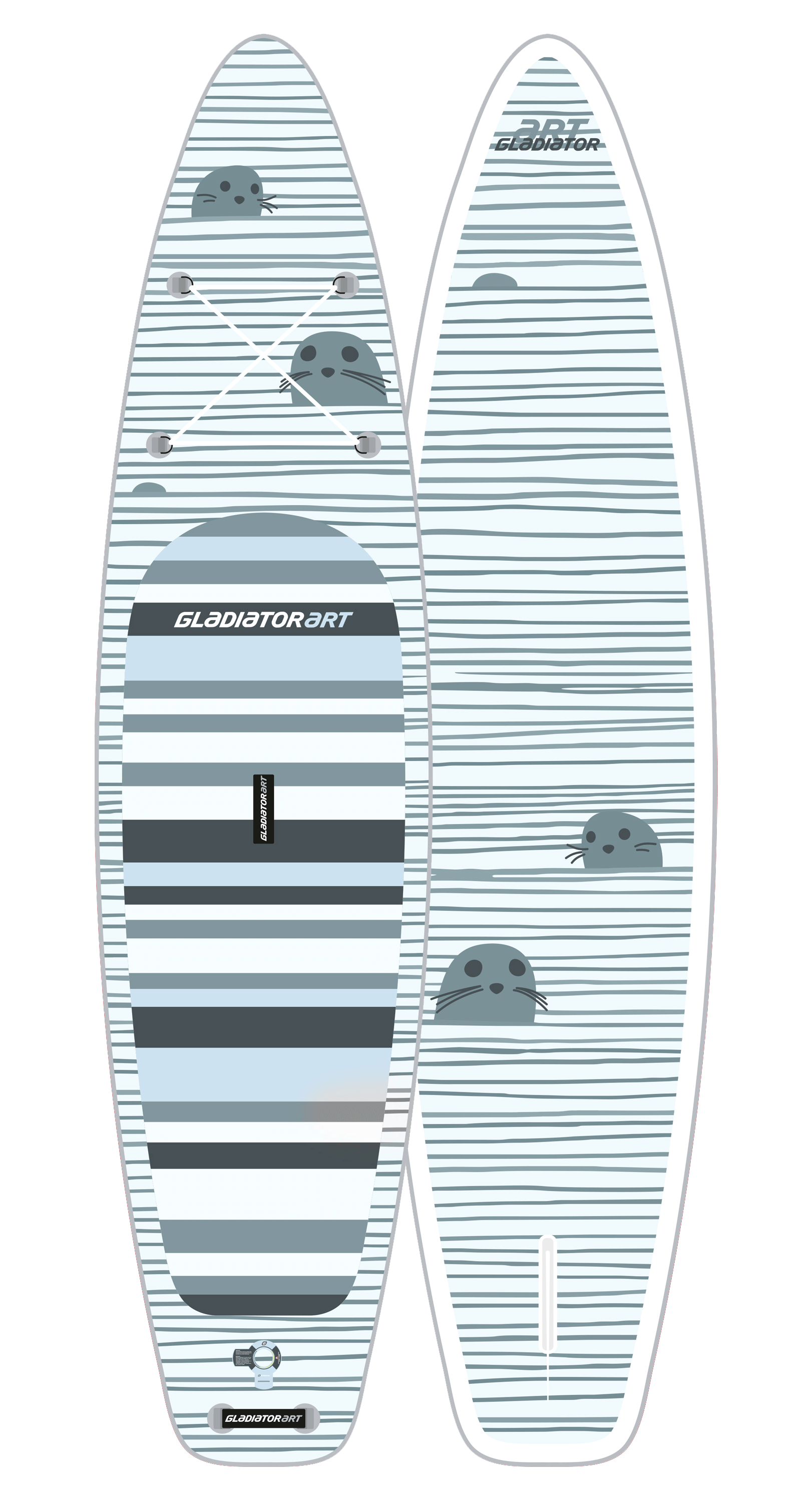 Надувной SUP борд GLADIATOR ART SEAL 11.2