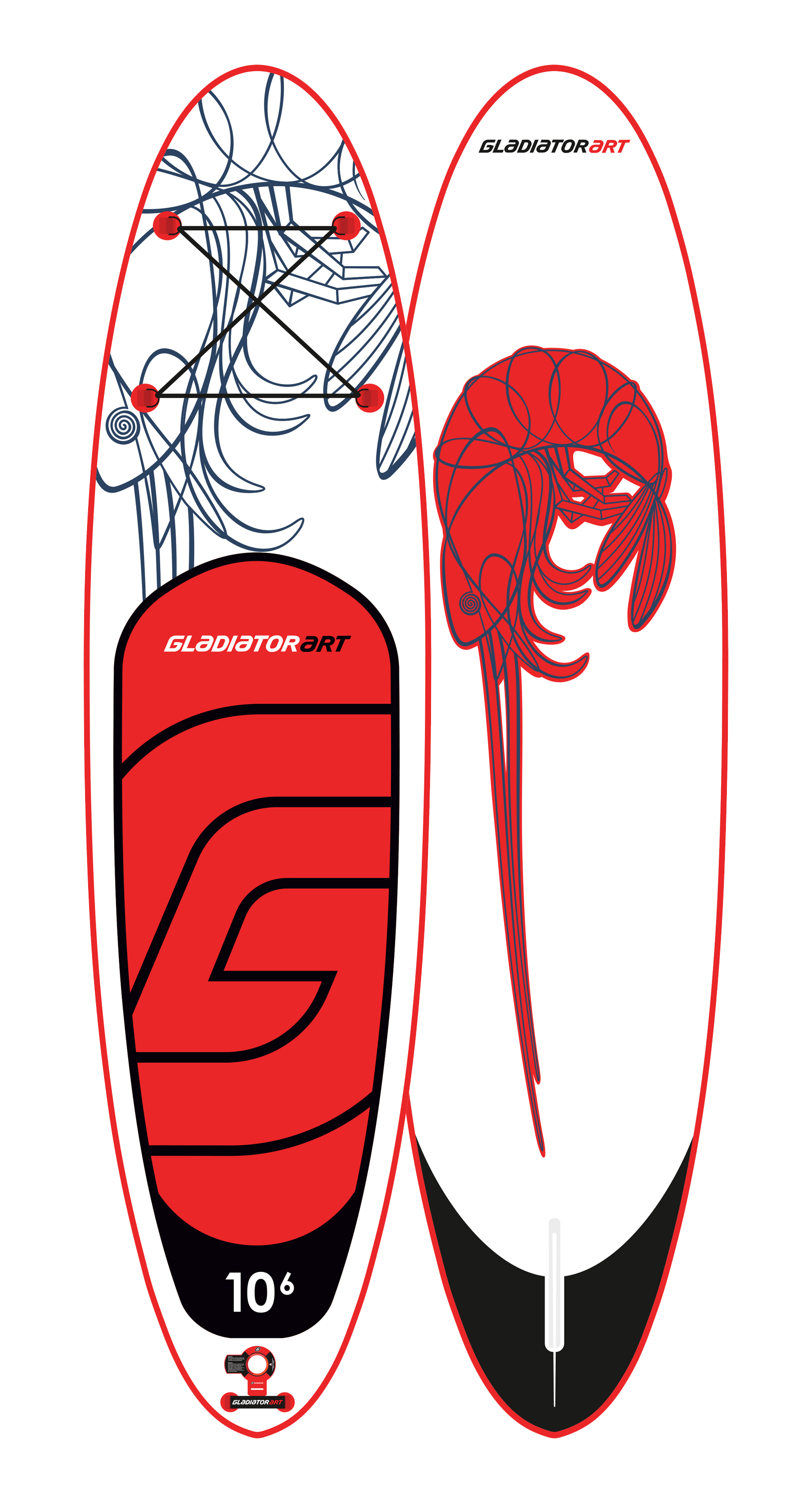 Надувной SUP борд GLADIATOR ART SHRIMP 10,6