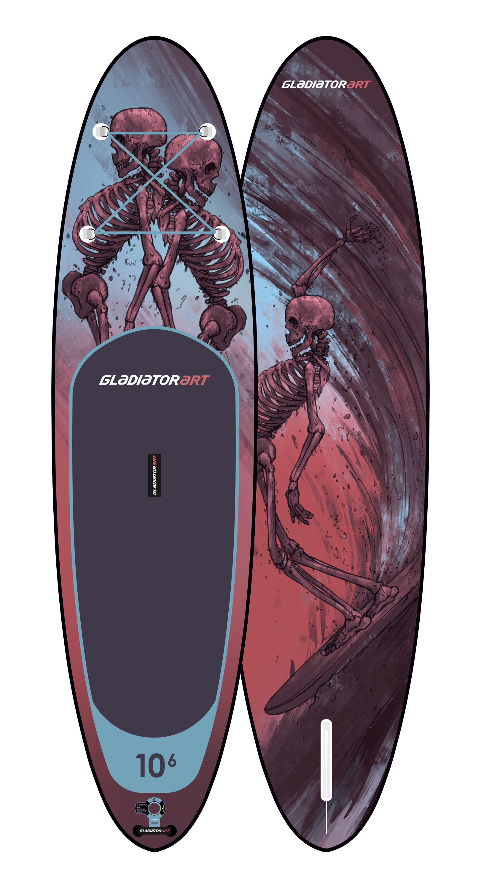 Надувной SUP борд GLADIATOR ART RIDE 10.6